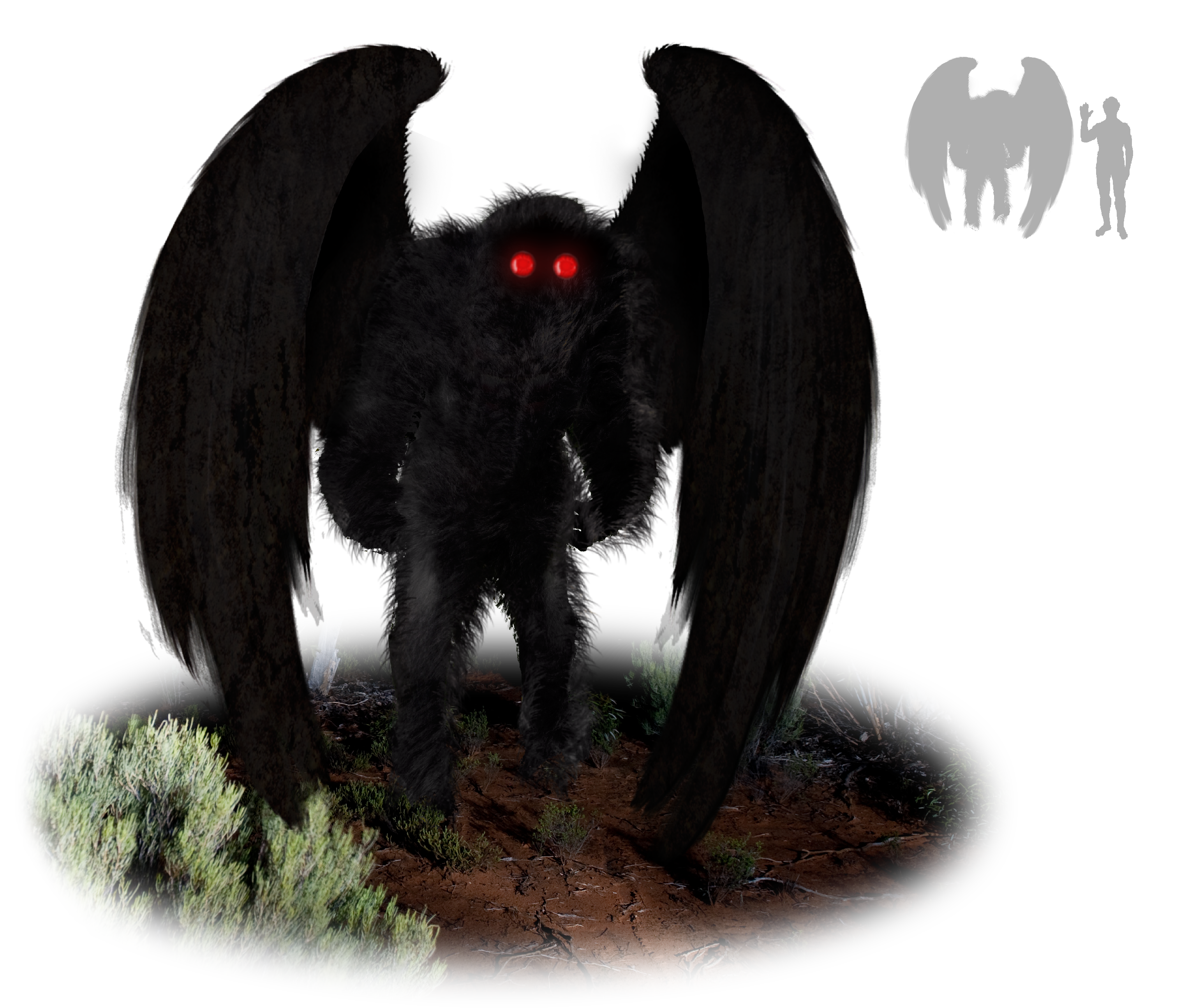 The Mothman, an oracle of misfortune