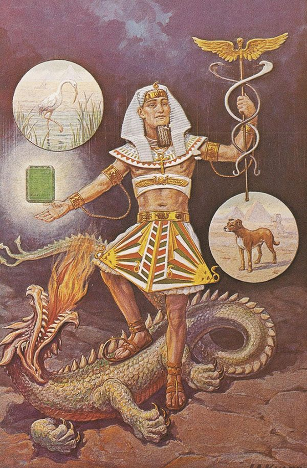 Image of Hermes Trismegistus and the legendary Emerald Tablet