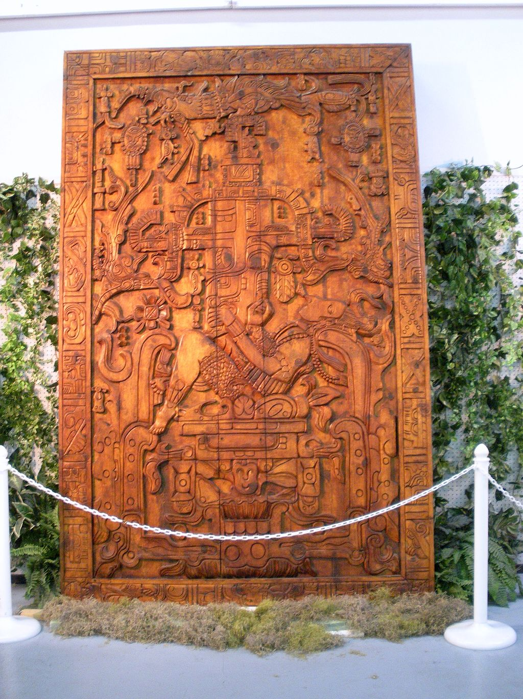 The Sarcophagus of Pakal and the Astronaut of Palenque-Replica_of_the_Sarcophagus_lid_of_Pacal_the_Great
