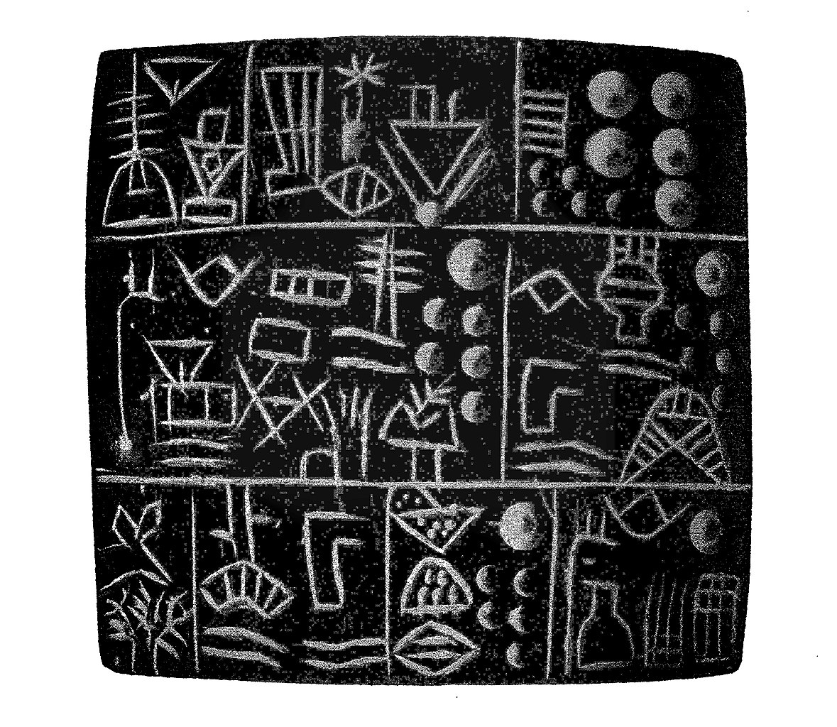 The Pokotia Monolith: did the Sumerians land in South America?-Archaic_cuneiform_tablet