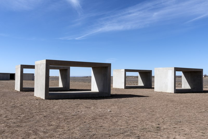 The enigma of the Monoliths which appear and disappear-Art installation in the desert