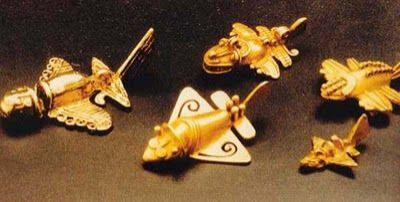 QUIMBAYA ARTIFACTS: Pre-Columbian Golden Jet